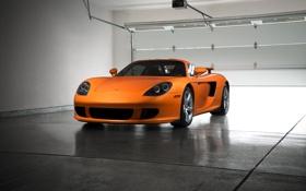 Обои Porsche, Orange, Front, Carrera, Rage, Supercar, Exotic