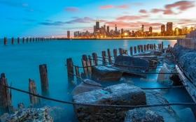 Обои chicago, пейзаж, город