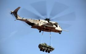 Картинка вертолёт, военный, Sikorsky, транспортный, тяжёлый, доставка, Super Stallion