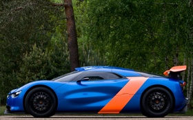 Картинка Concept, синий, Renault, вид сбоку, рено, Alpine, A110-50