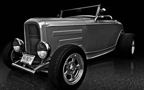 Обои ретро, классика, roadster, 1932, Oldsmobile, хот род