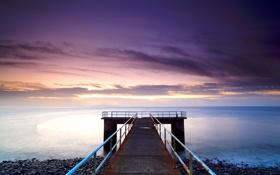 Картинка море, вода, океан, рассвет, берег, пейзажи, пляжи