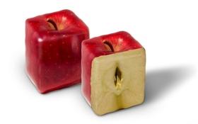 Картинка яблоко, разрез, форма