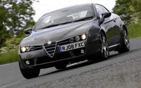 Обои машина, передок, фары, Alfa Romeo, Brera S