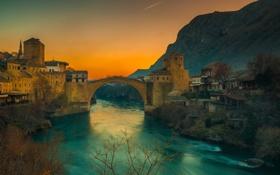 Обои закат, горы, самолет, река, выдержка, photographer, Ruzdi Ekenheim