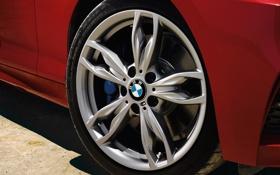 Обои бмв, диск, логотип, BMW, колесо, 2015
