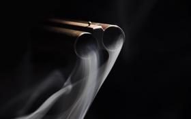 Картинка макро, дым, ствол
