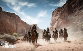 Обои актер, desert, mountain, вестерн, horse, The Lone Ranger, Одинокий рейнджер