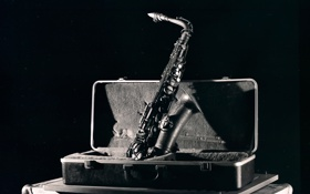 Картинка музыка, футляр, саксофон, The Jazz Series