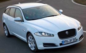 Картинка car, белый, Jaguar, ягуар, Sportbrake