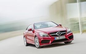 Обои Mercedes-Benz, Красный, Машина, Капот, Red, E-Class, Передок