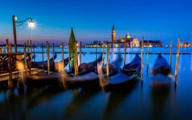 Обои море, вода, свет, ночь, город, остров, Италия
