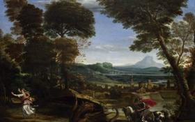 Обои копье, на коне, дракон, painting, георгий, Domenichino, смерть