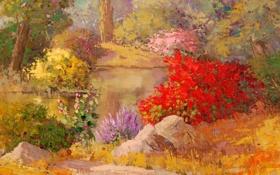 Обои арт, Sean Wallis, Summer Bloom