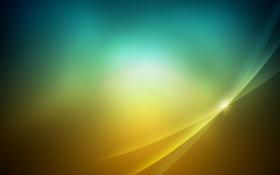 Обои желтый, зеленый, заставка, переход