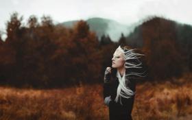 Картинка девушка, настроение, ветер