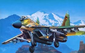 Обои авиация, истребитель, самолёт, российский, многоцелевой, МиГ-29, четвёртого поколения
