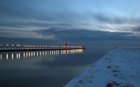 Обои пейзаж, море, маяк