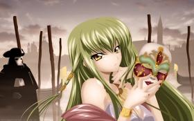 Обои девушка, аниме, маска, Code Geass, венеция