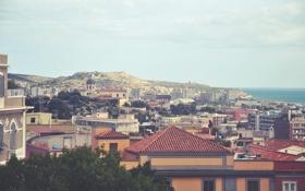 Обои город, здания, дома, крыши
