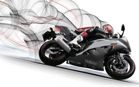 Обои мотоциклист, Yamaha, ямаха, YZF-R6, profile, спортивный мотоцикл