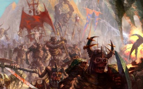 Картинка зомби, хаос, орки, скелеты, топоры, армия тьмы