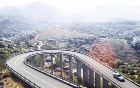 Обои Concept, дорога, C-X16, Jaguar, мост, вид