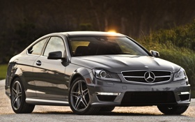 Обои серый, купе, суперкар, блик, mercedes-benz, мерседес, coupe