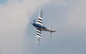 Картинка самолет, истребитель, P-51 Mustang, показать