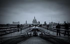 Картинка город, фото, фон, люди, здания, дороги, мостовая
