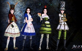 Обои Кролик, Классика, Алиса, Платья, Alice, Alice Madness Returns, Шляпник