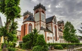 Обои город, фото, HDR, Германия, собор, храм, монастырь