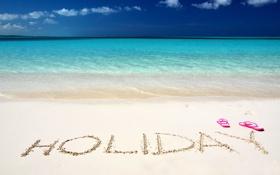 Обои солнце, лето, summer, каникулы, море, sea, пляж