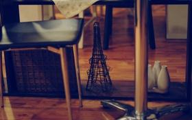 Картинка башня, стул, эйфелева, фигурка