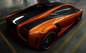Обои оранж, Gallardo, Lamborghini