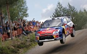 Обои Машина, Скорость, Люди, Citroen, WRC, Rally, Фаны