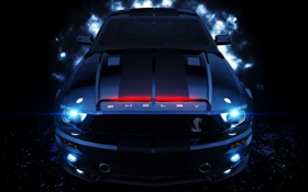 Обои shelby, night rider, k_i_t_t