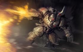Обои ссср, солдат, стрельба, броня, доспех, power armor