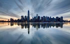 Обои город, вид, здания, дома, Нью-Йорк, небоскребы, панорама
