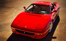Обои red, ferrari f355, феррари, supercar
