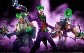 Картинка оружие, Джокер, Joker, game wallpapers, троица, Infinite Crisis
