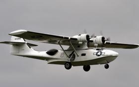 Обои американский, морской, WW2, «Каталина», патрульный бомбардировщик, (летающая лодка), PBY-5A