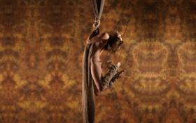 Картинка ткань, состояние, шатенка, верёвка, текстура, фон, подвешенное