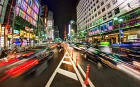 Обои Япония, Токио, Tokyo, Japan, night, Trey Ratcliff
