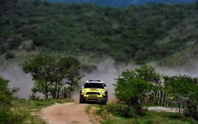 Картинка Желтый, Спорт, Гонка, Mini Cooper, Rally, Dakar, Дакар
