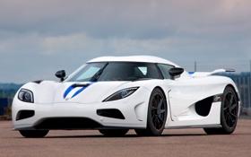 Обои небо, Koenigsegg, суперкар, white, гиперкар, Agera R, елый