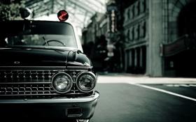 Обои машина, фото, обои, фары, Ford, капот, автомобиль