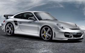 Картинка Rinspeed, 911_GT2, Le_Mans, Porsche, серая