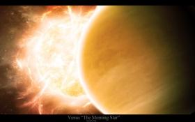 Обои солнце, звезды, свет, венера, venus