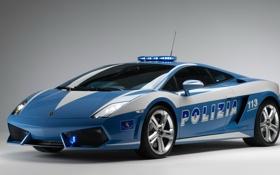 Обои Gallardo, Police, Polizia, Lamborghini